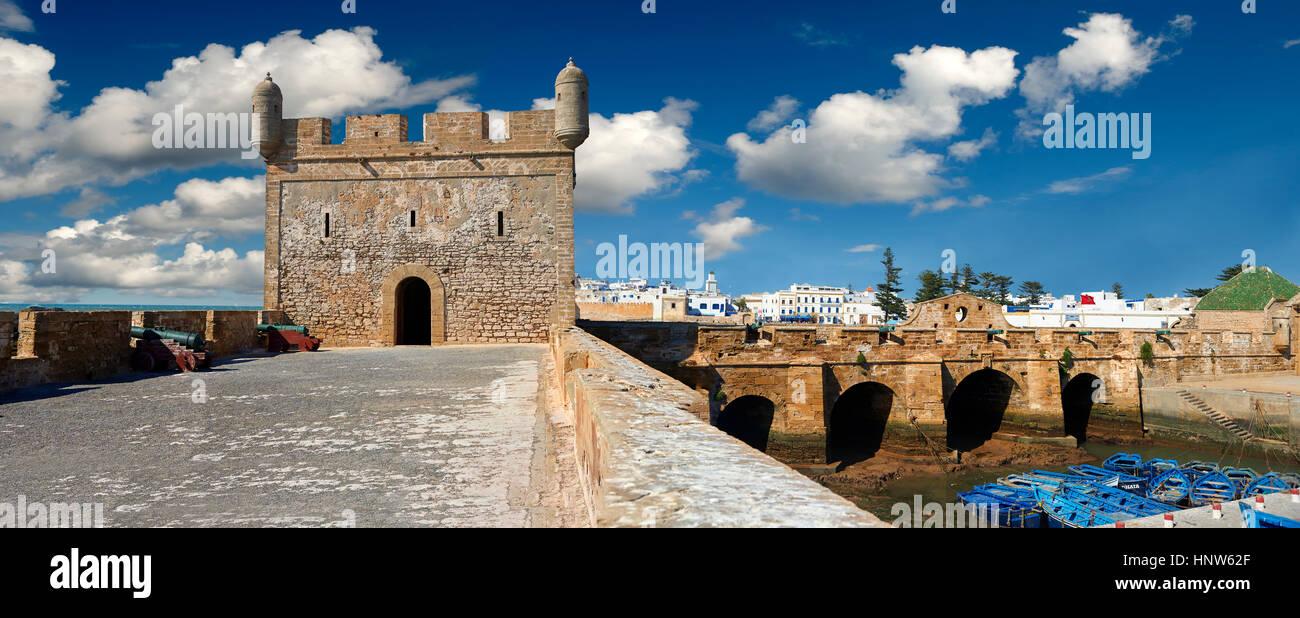 Genueser errichteten portugiesischen Befestigungen von Mogador oder Mogadore. Essaouira, Marokko Stockbild