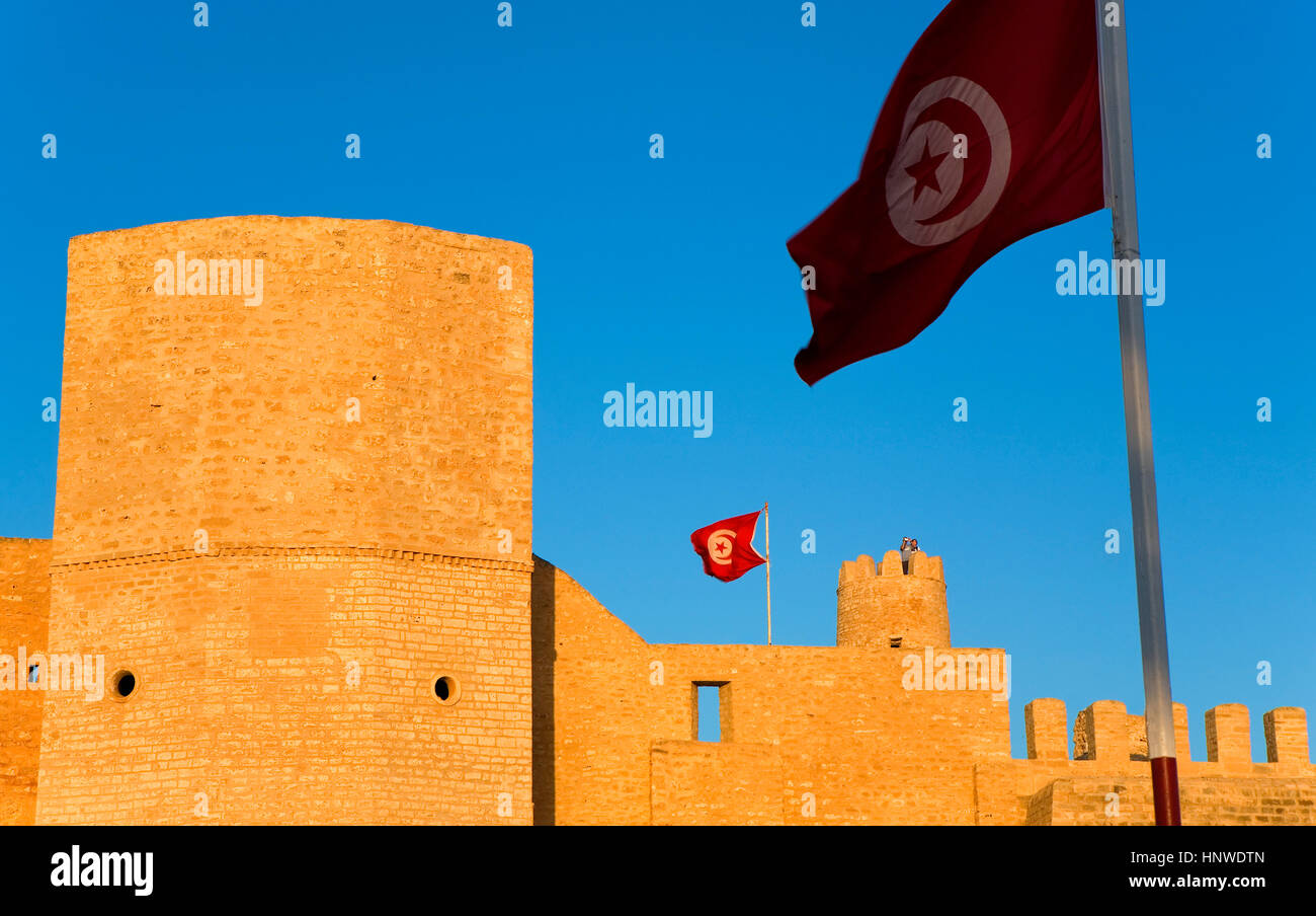 Tunez: Monastir. Ribat (Festung), VIII. Jh. Stockbild