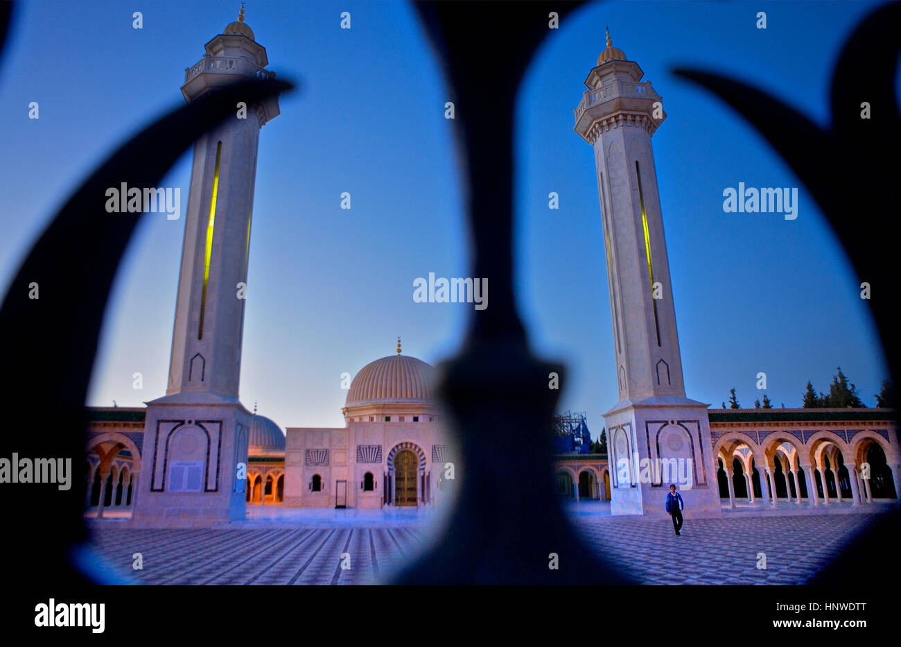 Tunez: Monastir.Bourghiba Mausoleum Stockbild