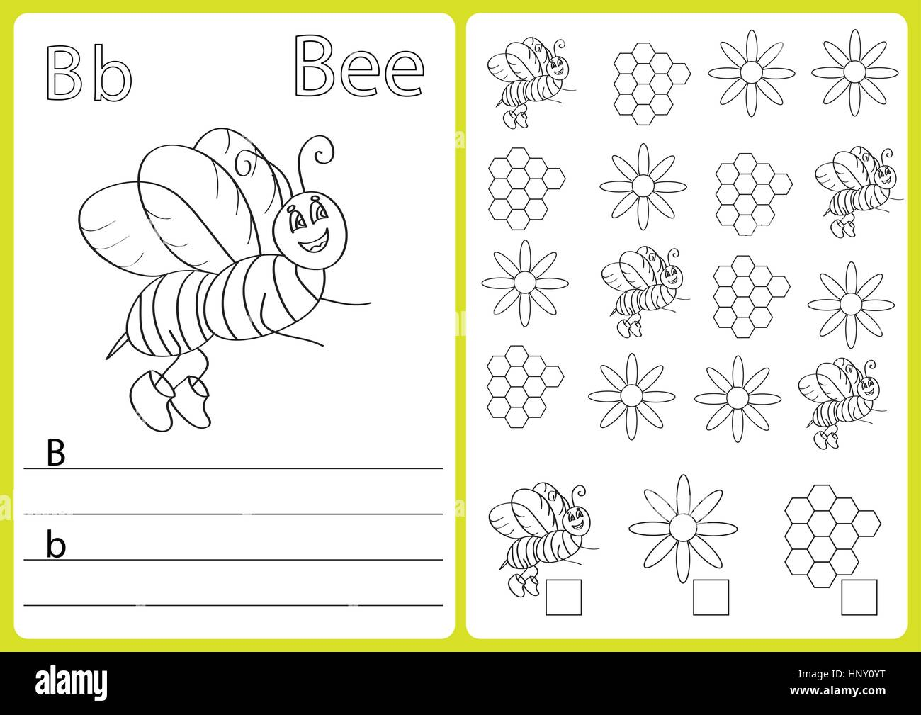 Alphabet Worksheet Letter Stockfotos & Alphabet Worksheet Letter ...