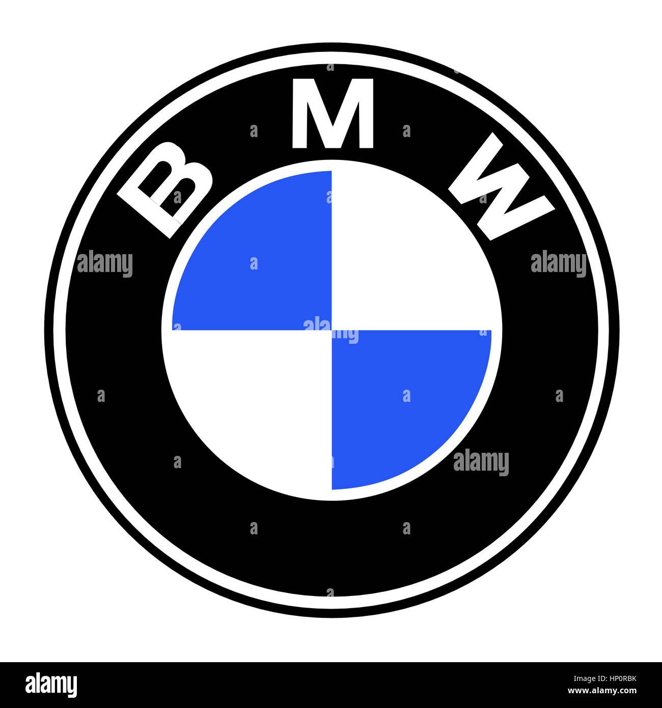 bmw logo stockfoto bild 134013367 alamy. Black Bedroom Furniture Sets. Home Design Ideas