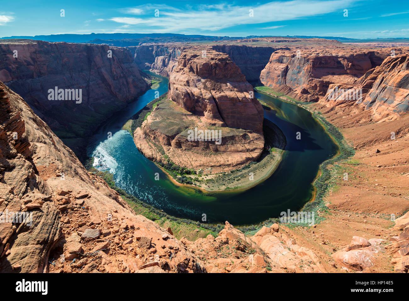 Berühmten Horseshoe Bend des Colorado River im nördlichen Arizona Stockfoto