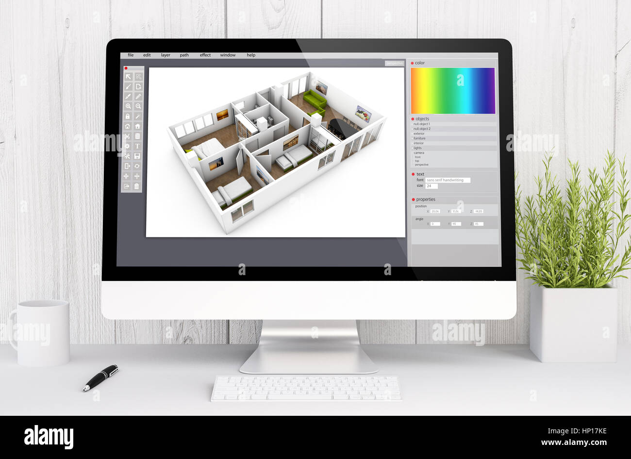 Design Drawing Table Desk 3d Stockfotos & Design Drawing Table Desk ...