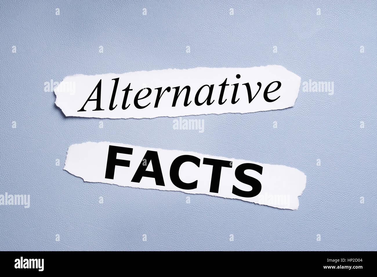 Alternative Fakten Stockbild