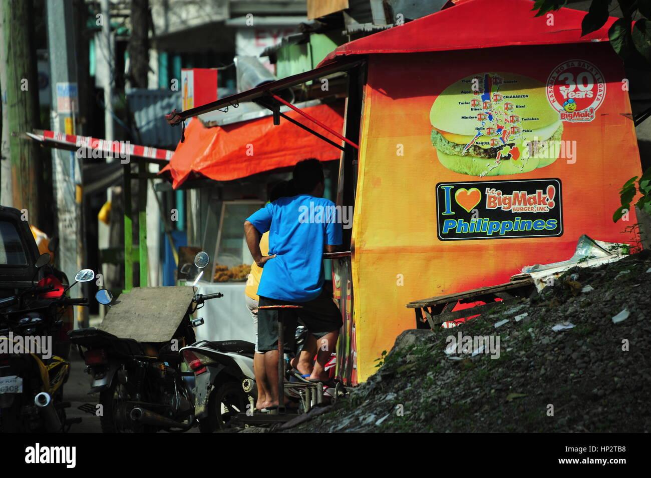 Essen Stall, Maasin City Leyte, Philippinen Stockbild