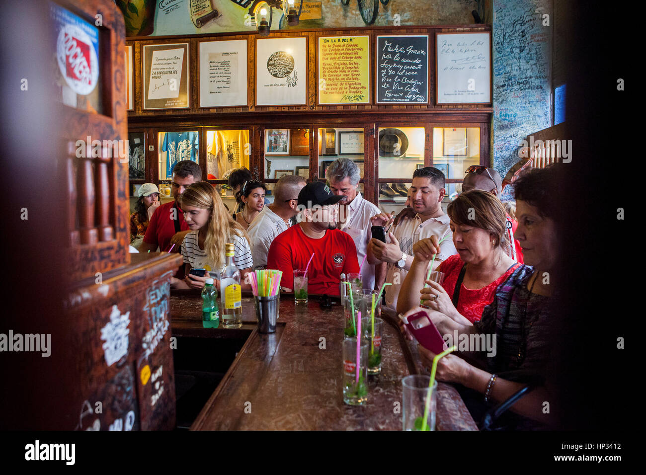 La Bodeguita del Medio, Habana Vieja, La Habana, Kuba Stockbild