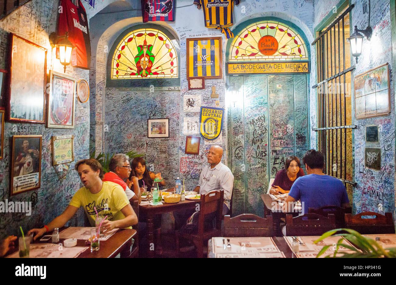 La Bodeguita del Medio, Habana Vieja, Habana Vieja, La Habana, Kuba Stockbild