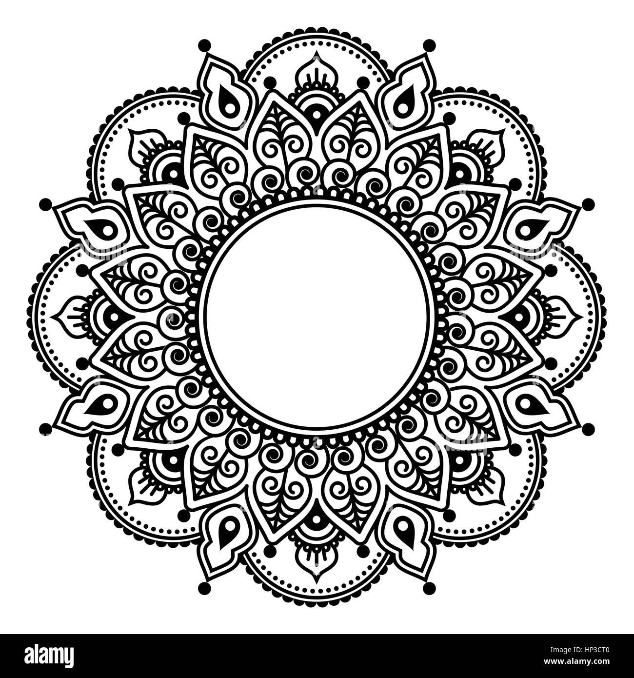 mehndi spitze indische henna tattoo runde entwurf oder. Black Bedroom Furniture Sets. Home Design Ideas