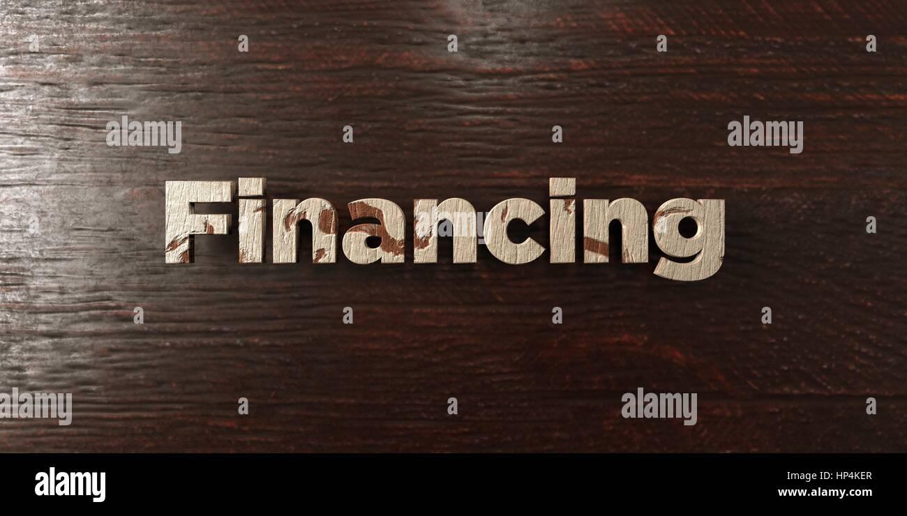 Finanzierung - Grunge Holz Schlagzeile auf Ahorn - 3D gerenderten Lizenzgebühren freies Bild. Dieses Bild kann Stockbild