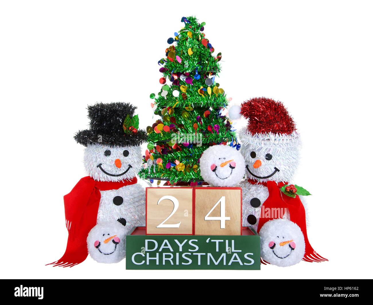 Tage Bis Weihnachten.24 Tage Bis Weihnachten Hell Buche Holzblocke Mit Roten