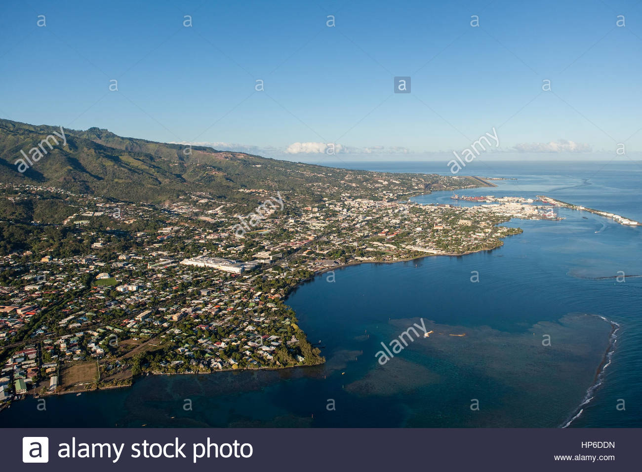 city papeete on island tahiti stockfotos city papeete on island tahiti bilder alamy. Black Bedroom Furniture Sets. Home Design Ideas