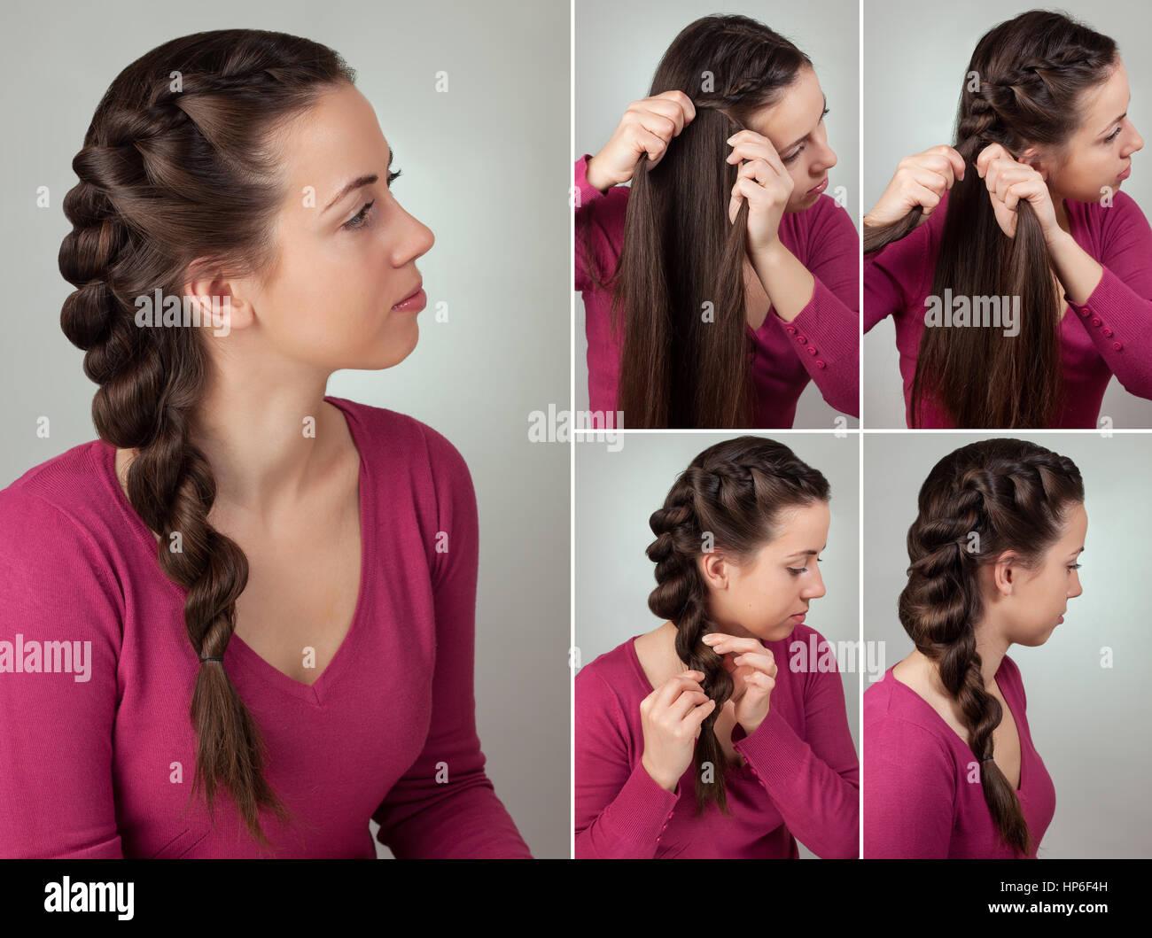 Zopf Frisuren Einfach   Einfacher Zopf Frisur Tutorial Einfache Frisur Fur Lange Haare
