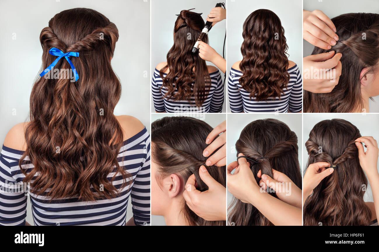 Verdrehte Frisur Auf Lockiges Haar Tutorial Frisur Für Lange Haare