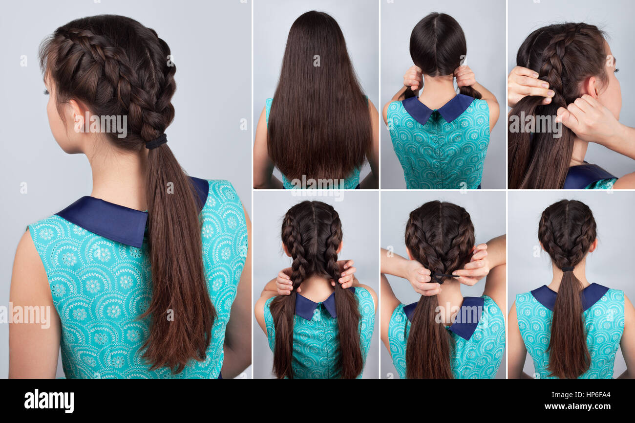 Einfacher Zopf Frisur Tutorial Einfache Frisur Fur Lange Haare