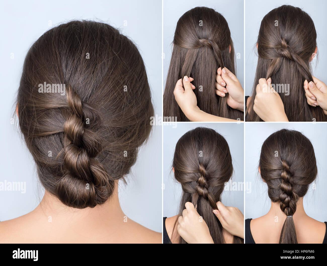 Einfache Verdrehte Frisur Tutorial Einfache Frisur Fur Lange Haare