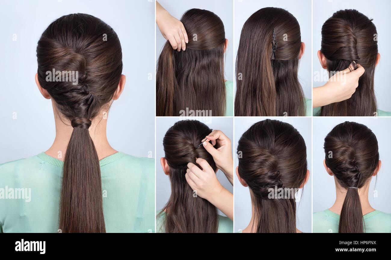 Einfache Frisur Pferdeschwanz Mit Twist Haar Tutorial Schritt Fur