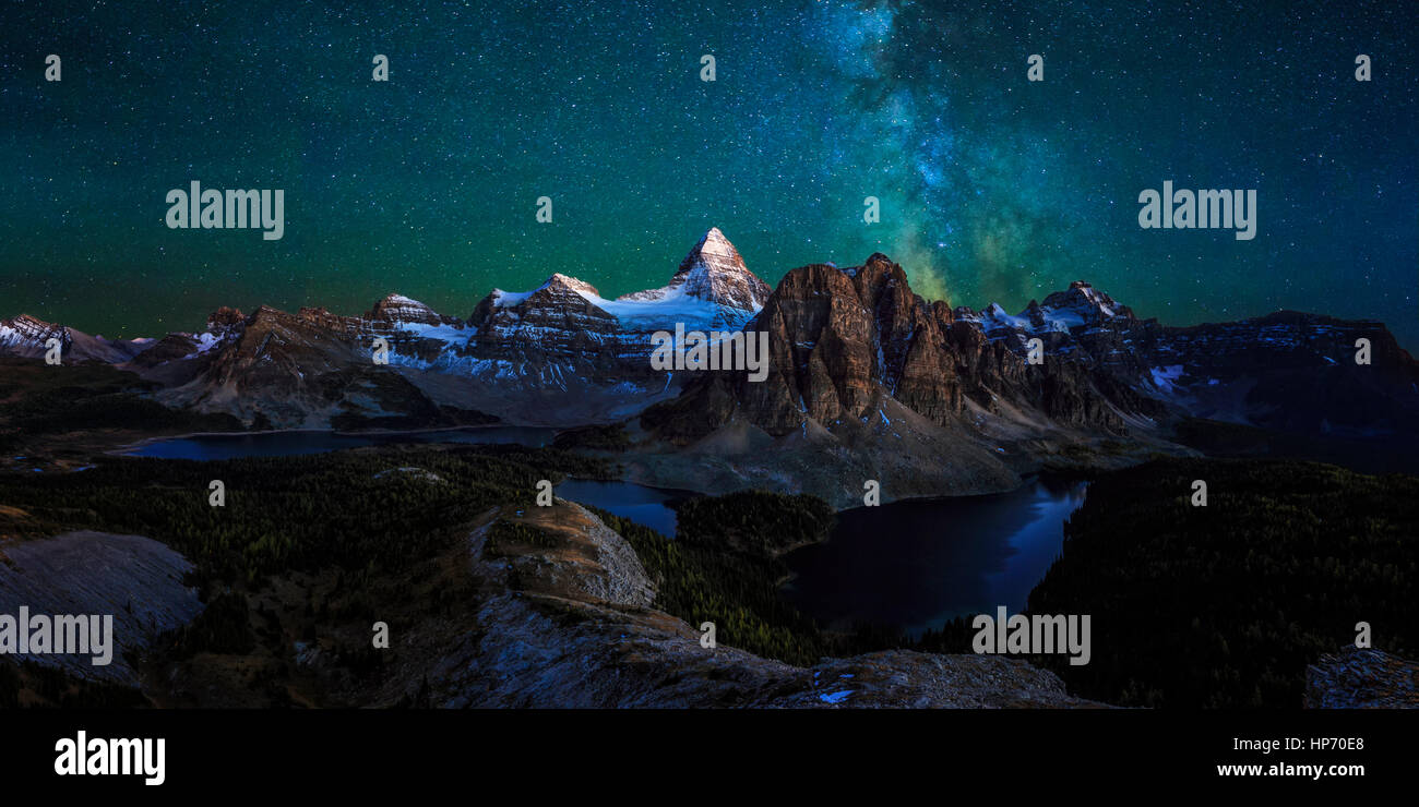 Mt Assinniboine Provincial Park, Kanada Stockbild