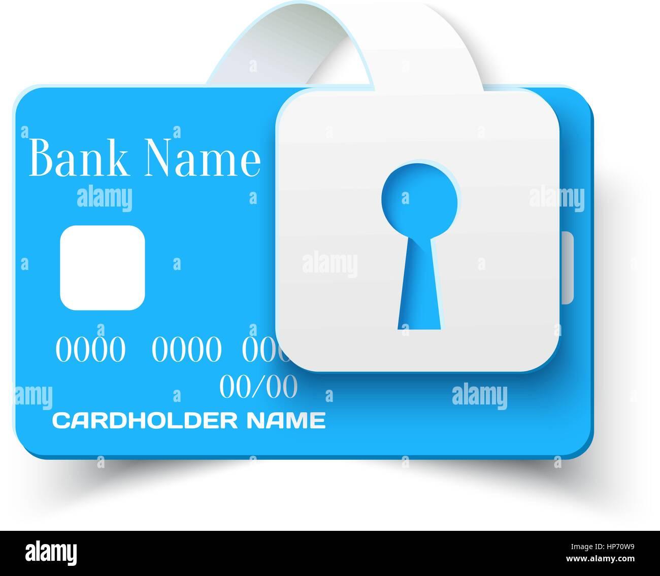 Kreditkarte Online-Zahlungen Sicherheit Konzept Schutzsymbol ...