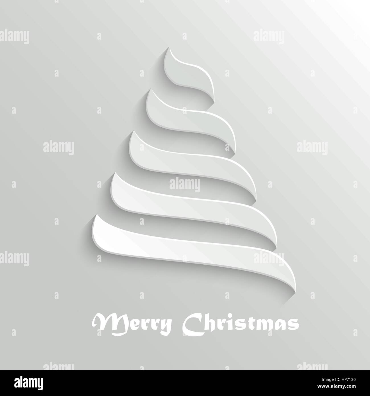 Weihnachtsbaum - 3d abstrakte Neujahr Symbol. Grußkarte Design ...