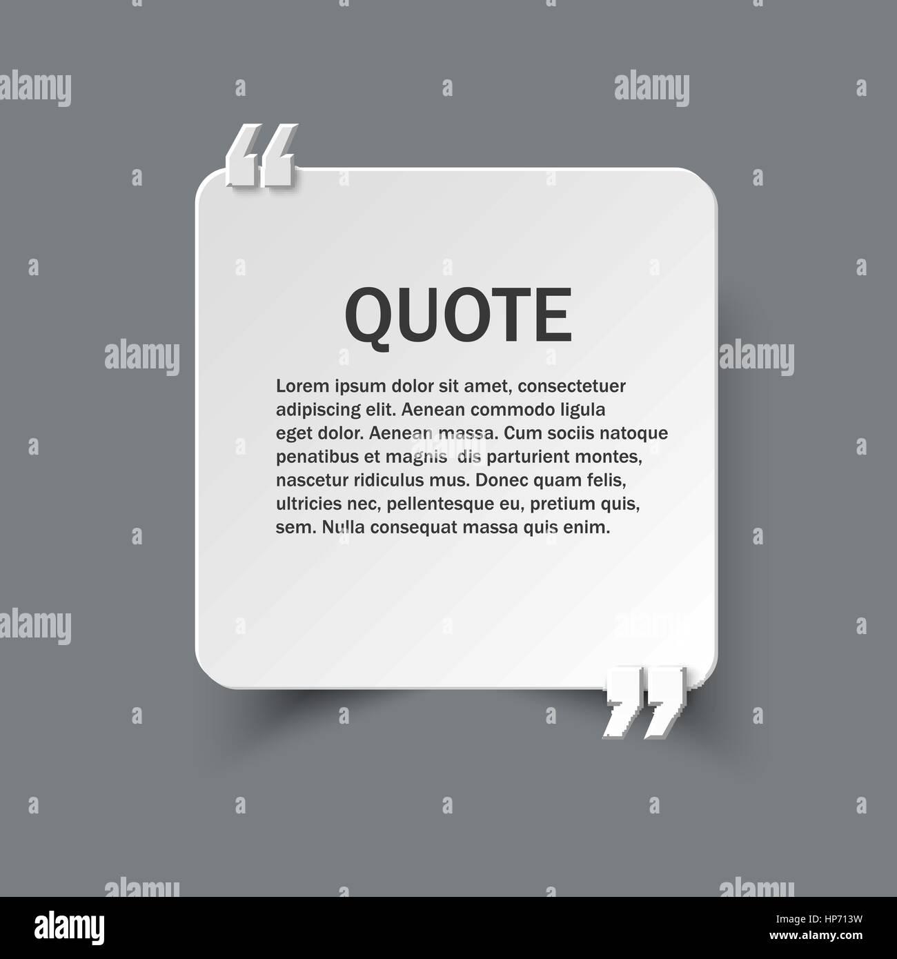 Angebot Formular Auf Quadratischen Papierkarte Mit Kommas Vektor