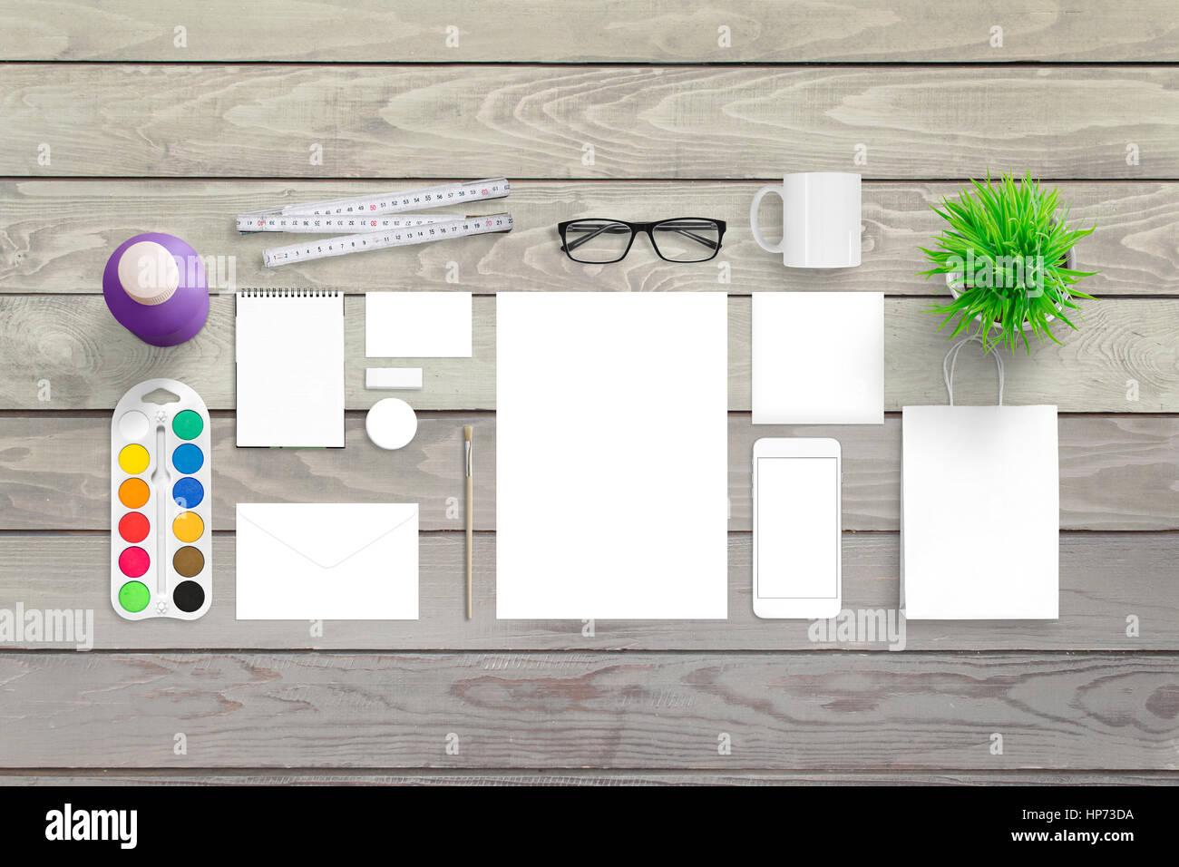 Leeres Briefpapier Vorlage für Design-Präsentation. Moderne und ...