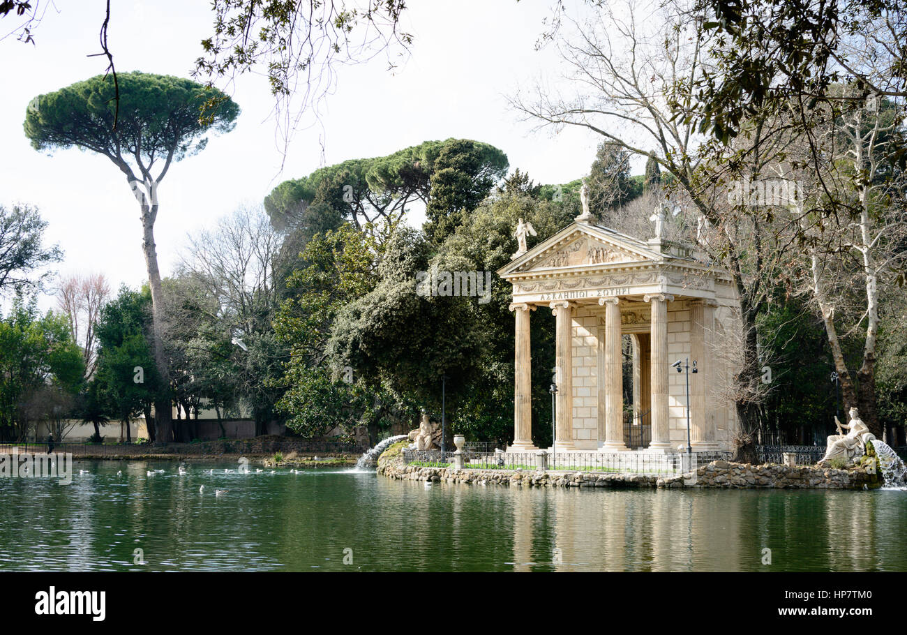 kleiner see im inneren g rten der villa borghese rom italien stockfoto bild 134168048 alamy. Black Bedroom Furniture Sets. Home Design Ideas