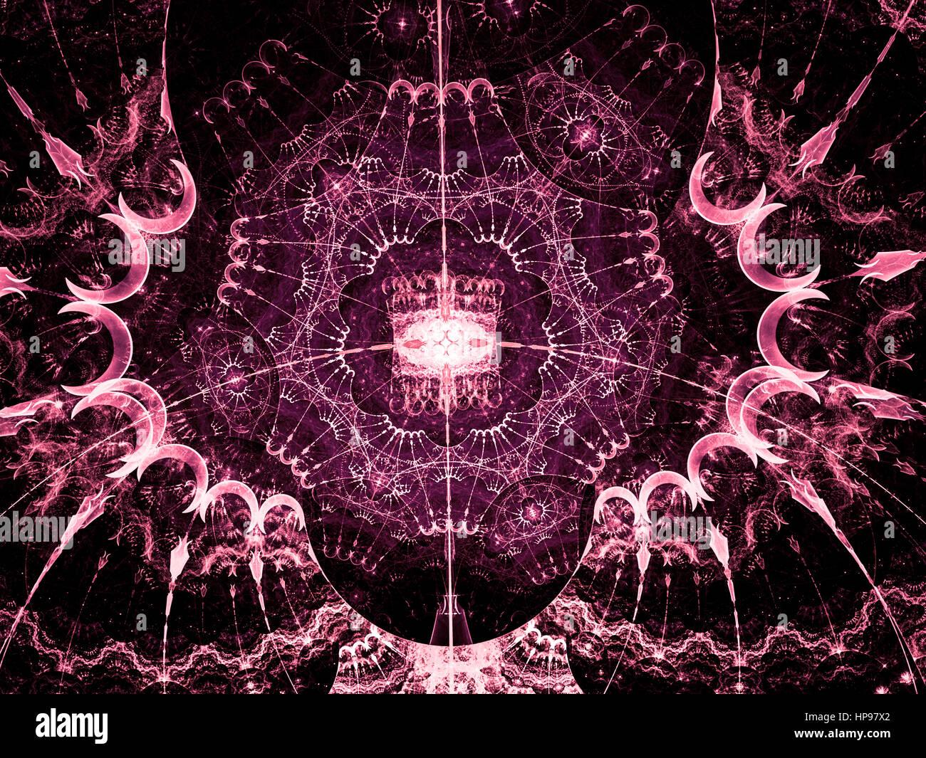 Ethnische Spitze Ornament Komplizierte Symmetrische Muster Mit