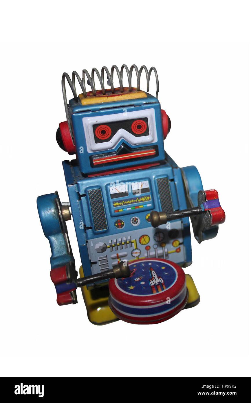 Retro Roboter Spielzeug Stockbild