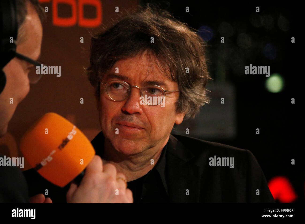 Andreas Veiel - Radioeins Nighttalk-Berlinale 2017, 16. Februar 2017, Berlin. Stockbild