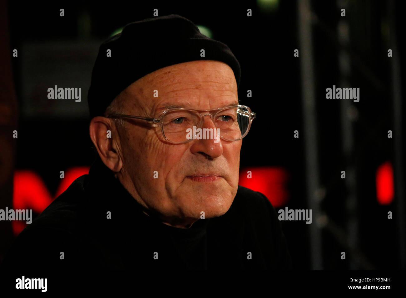 Volker Schloendorff - Radioeins Nighttalk-Berlinale 2017, 16. Februar 2017, Berlin. Stockbild