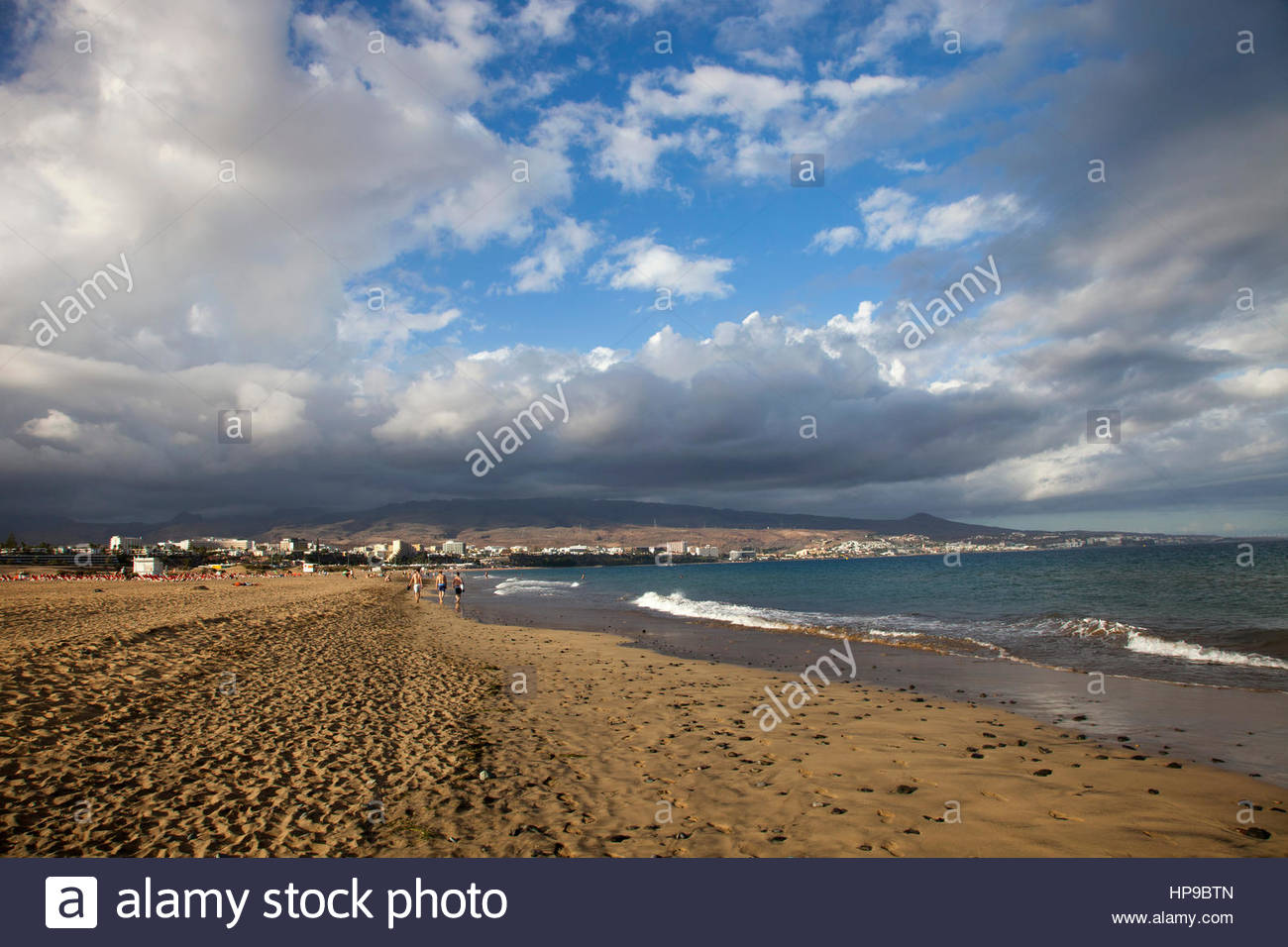 Playa del Ingles, Gran Canaria, Canarie, spagna Stockbild