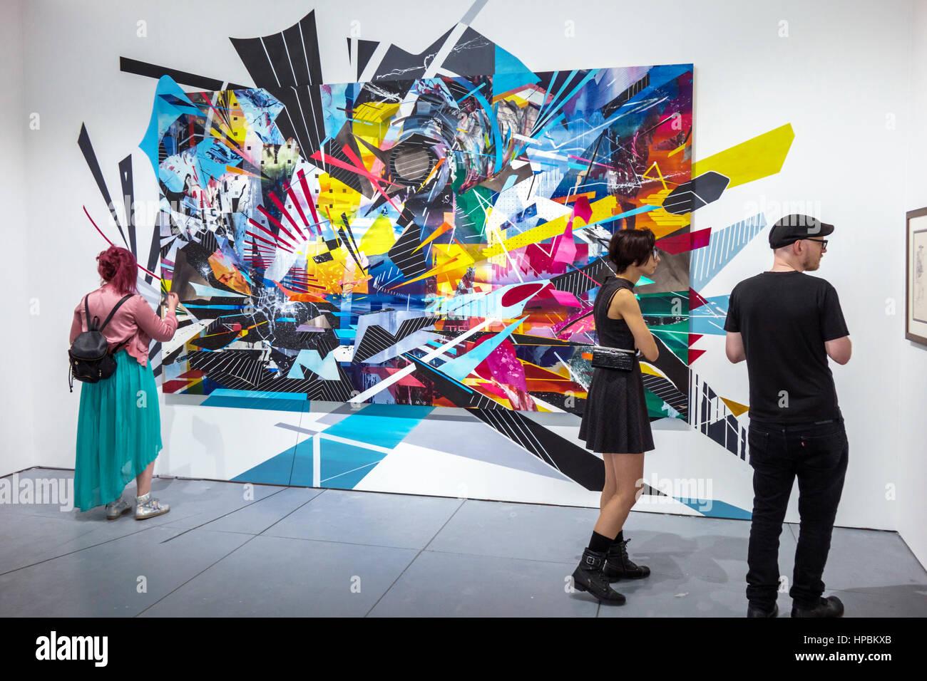 Miami Beach Florida Kunstwoche Basel Sat-Kunst fairen Rahmen Kunst ...