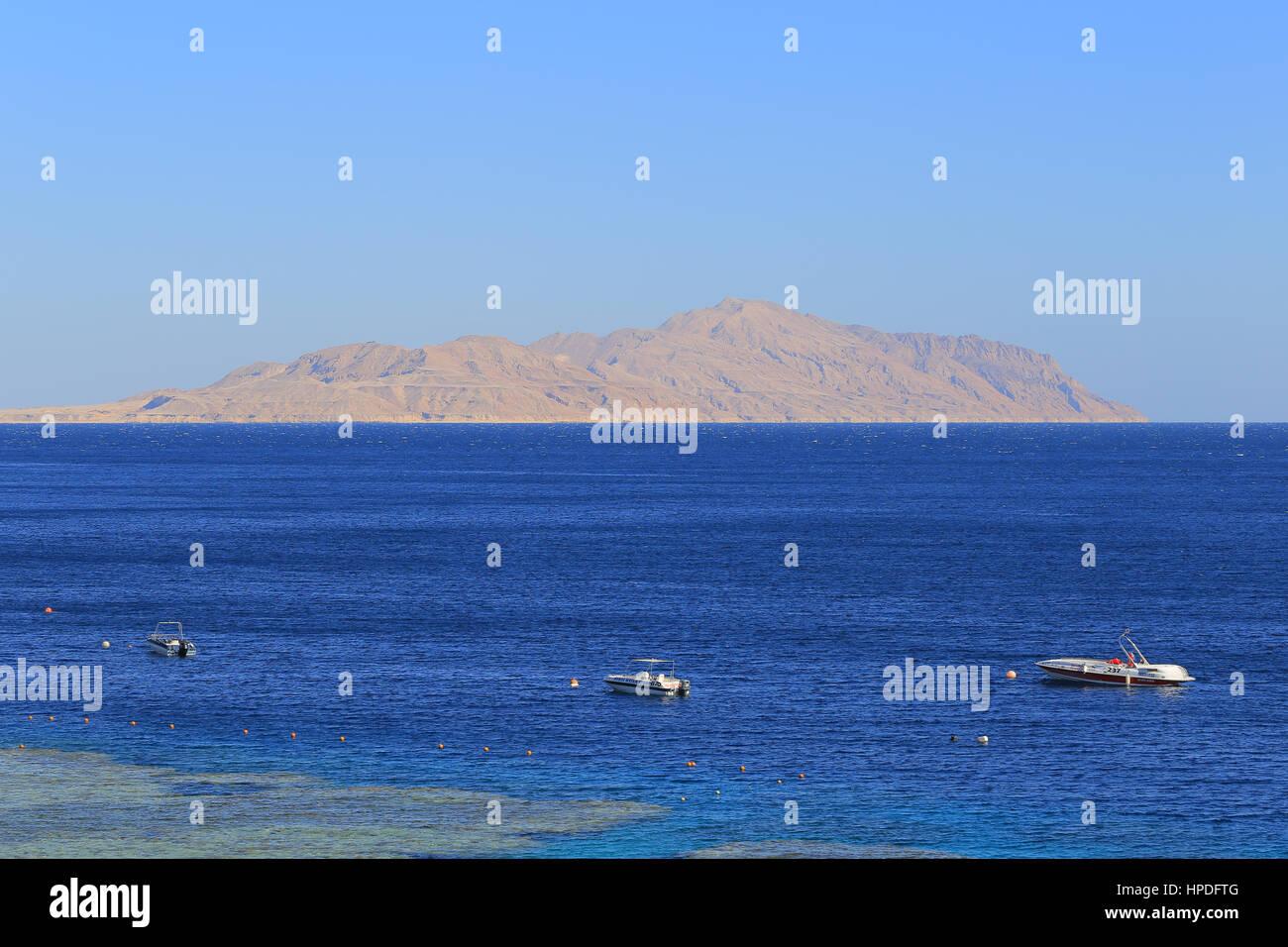 Rotes Meer und Tiran Insel in Ägypten Stockbild