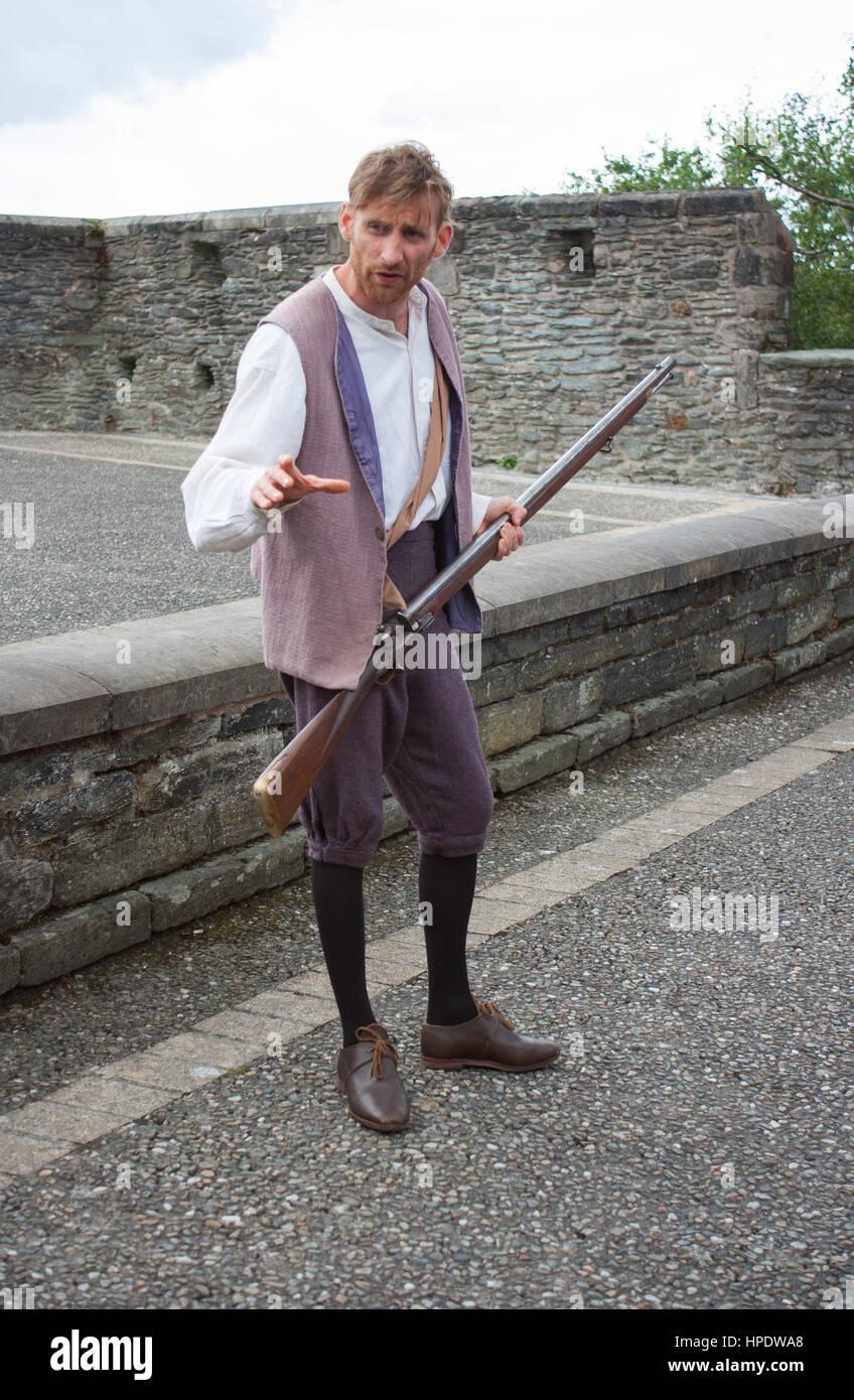Ein Lehrling jungen Rallye Unterstützung für Prinz William als der historische Belagerung von Derry ist Stockbild