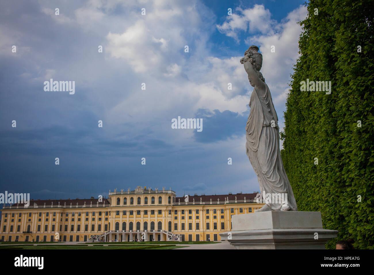 Schloss Schönbrunn, Wien, Österreich, Europa Stockbild