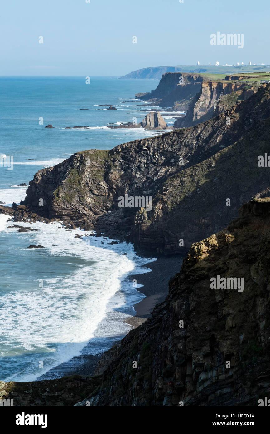 schöne Landschaft, Südwestküste Vereinigtes Königreich Stockbild