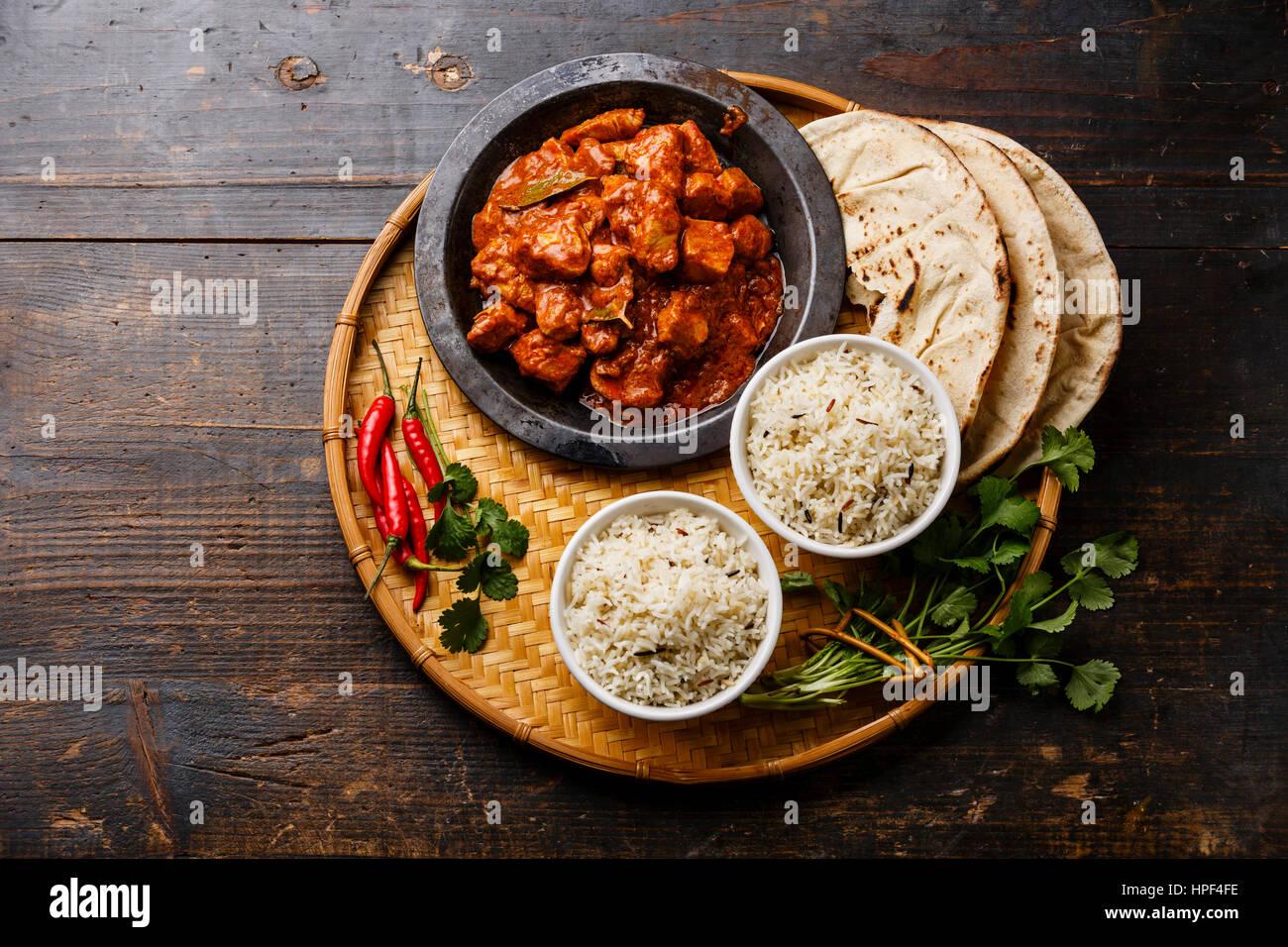 chicken tikka masala w rzigen curry fleisch essen mit reis. Black Bedroom Furniture Sets. Home Design Ideas