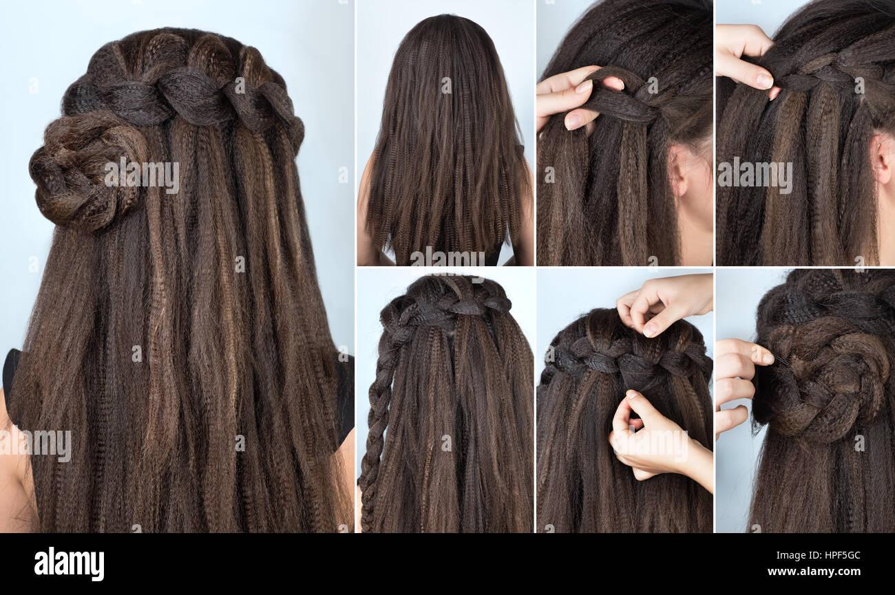 Frisur Geflochten Rose Tutorial Schritt Für Schritt Frisur Für