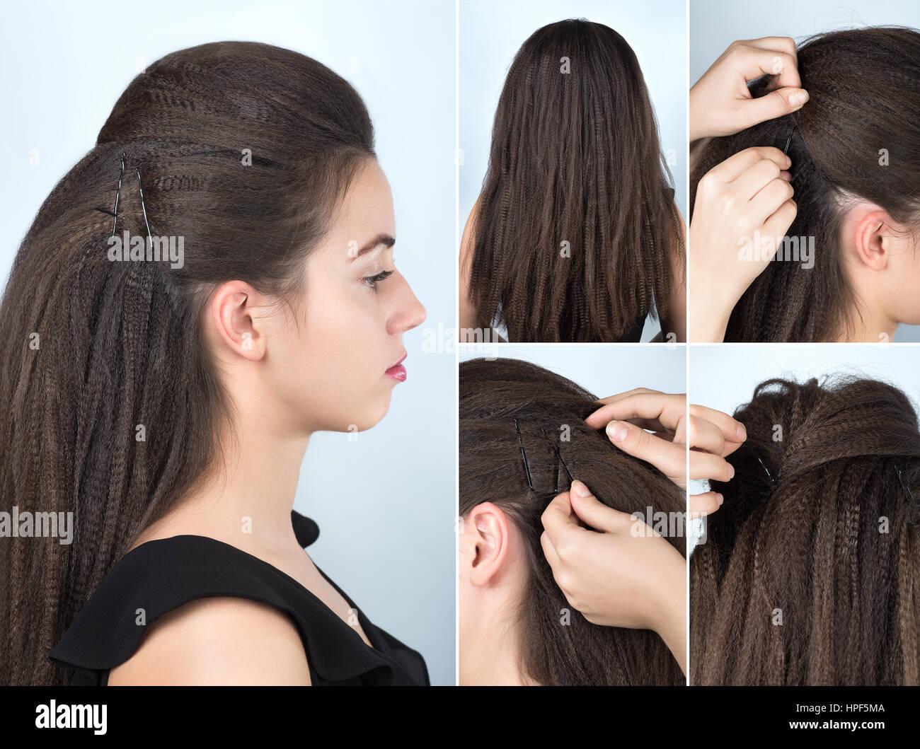 Modische Volumen Frisur Mit Welligkeit Lockiges Haar Frisur Für