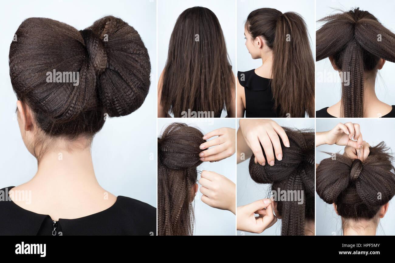 Modische Frisur Volumen Bogen Von Ripple Lockiges Haar Frisur Für
