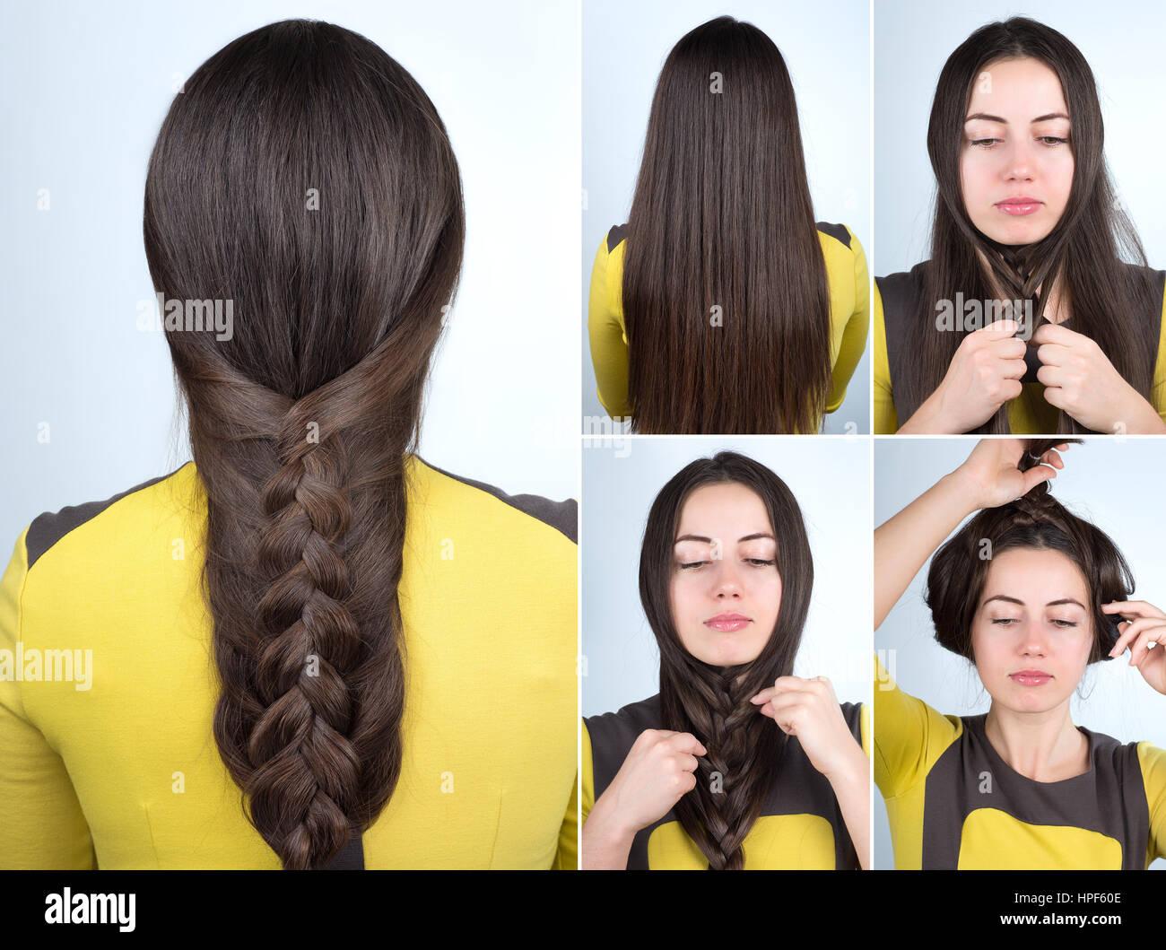 Einfacher Zopf Frisur Tutorial Zopf Frisur Für Langes Haar