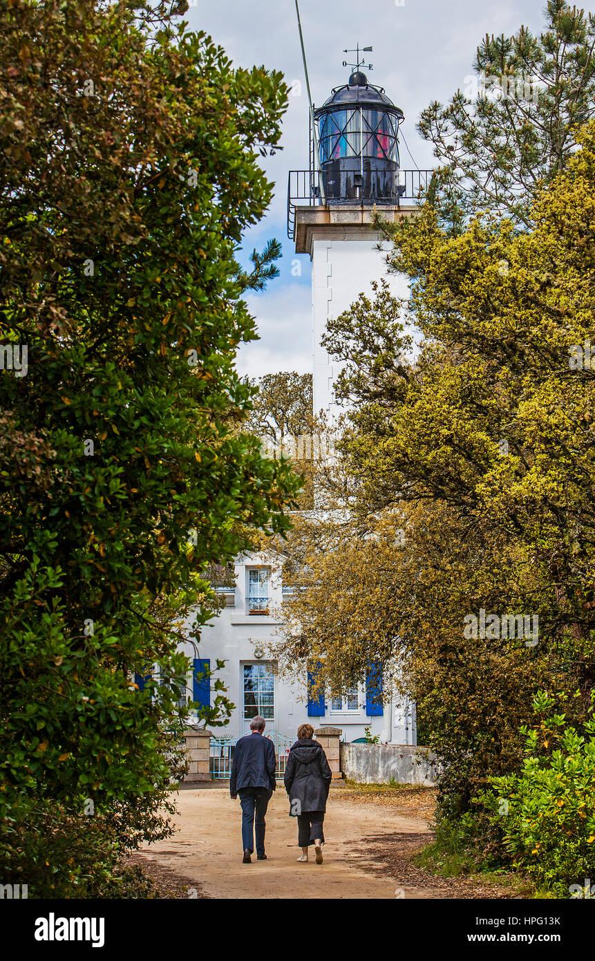 Leuchtturm Le Bois De La Chaise Insel Noirmoutier Atlantik Kuste Vendee Provinz Frankreich