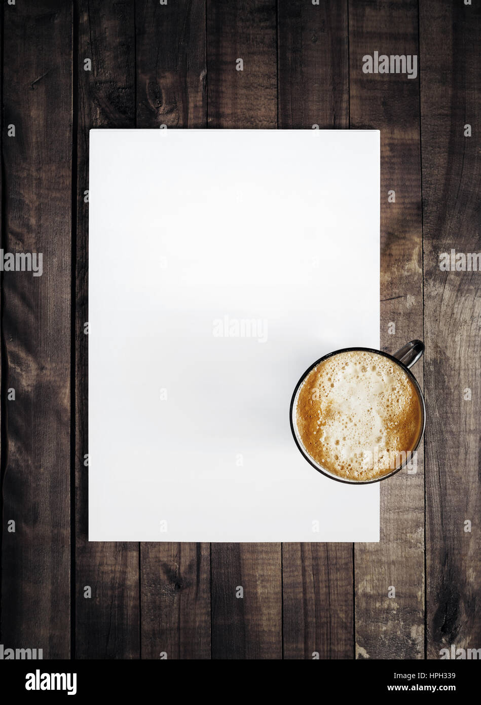 Briefkopf Leer Und Kaffeetasse Vorlage Für Das Branding Identität