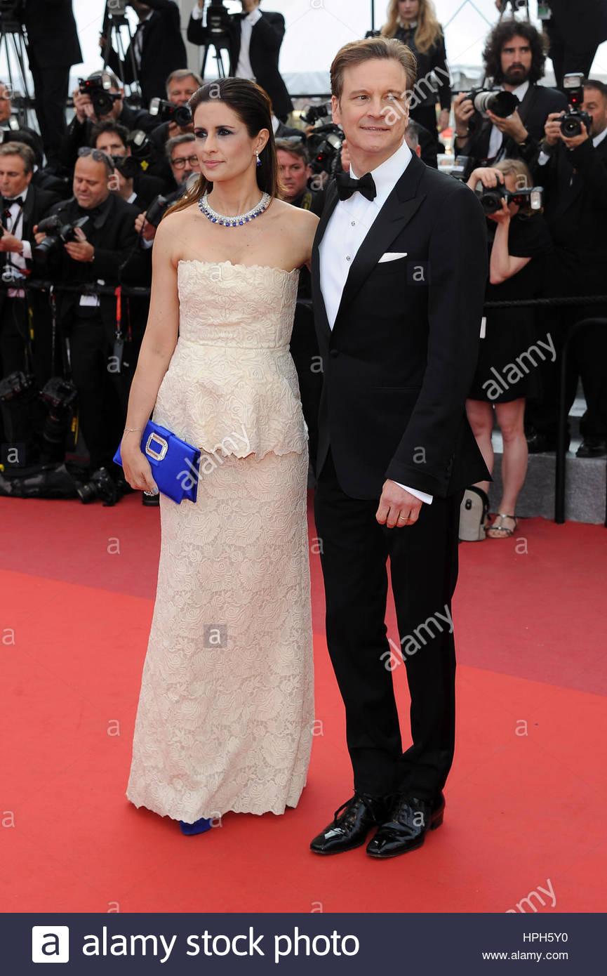 Livia Giuggioli, Colin Firth Stockbild
