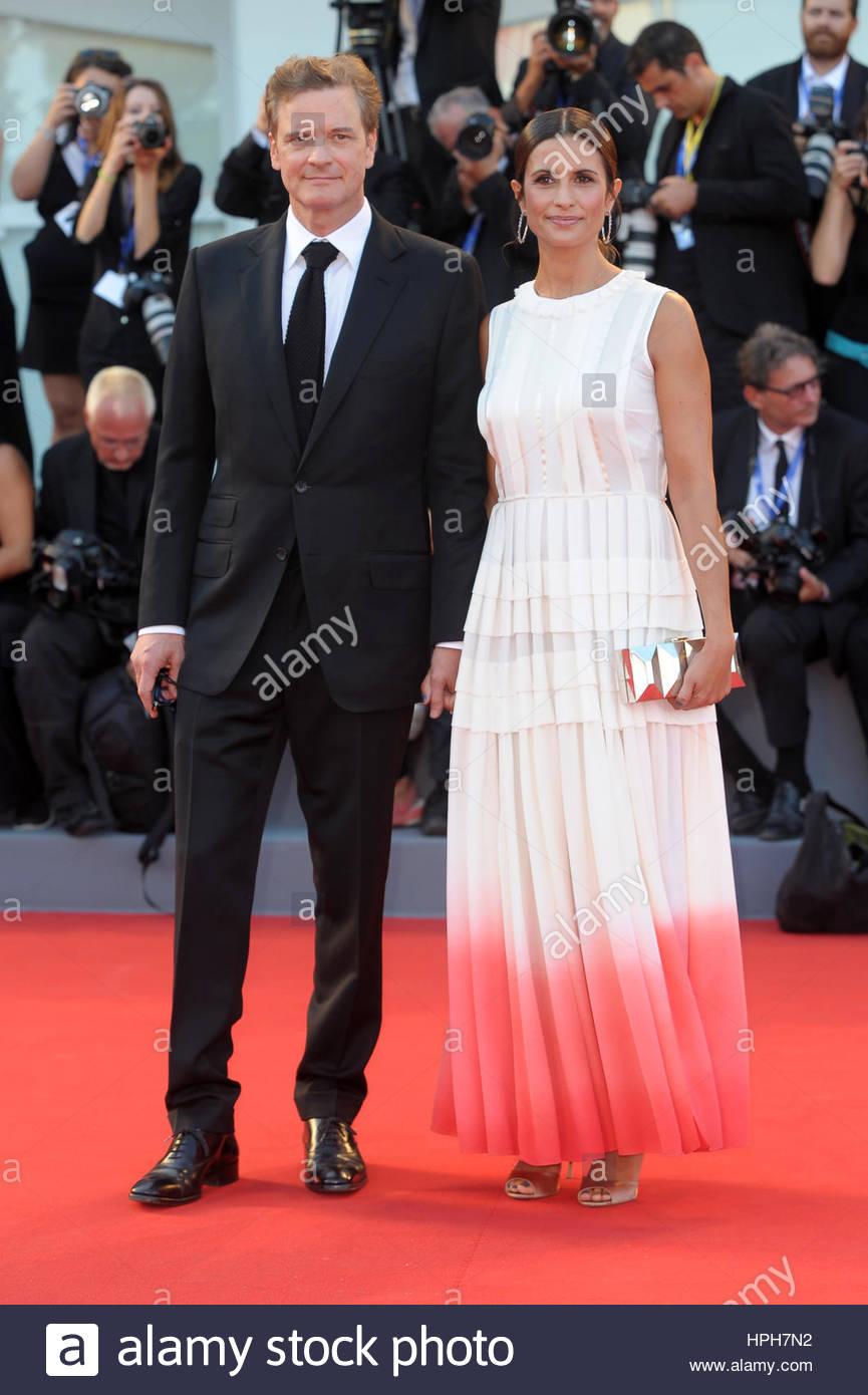 Colin Firth, Livia Giuggioli Venezia 09.10.2016 Stockbild