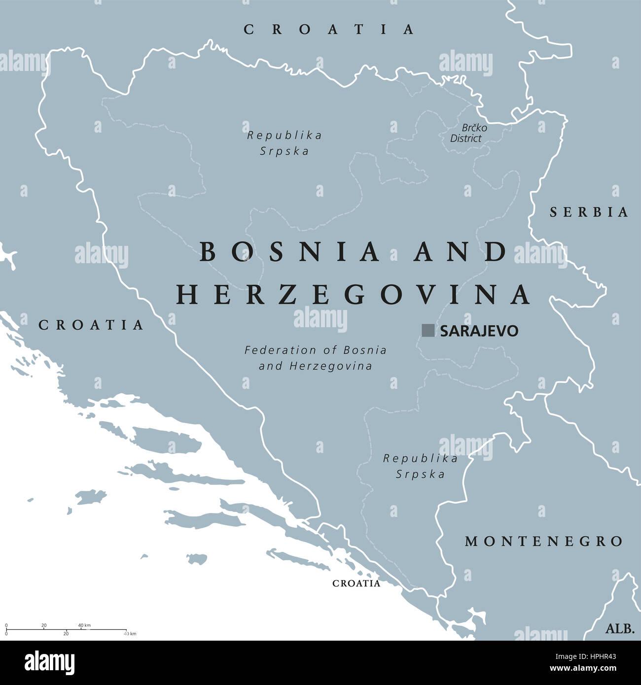 bosnia herzegovina map stockfotos bosnia herzegovina map bilder alamy. Black Bedroom Furniture Sets. Home Design Ideas
