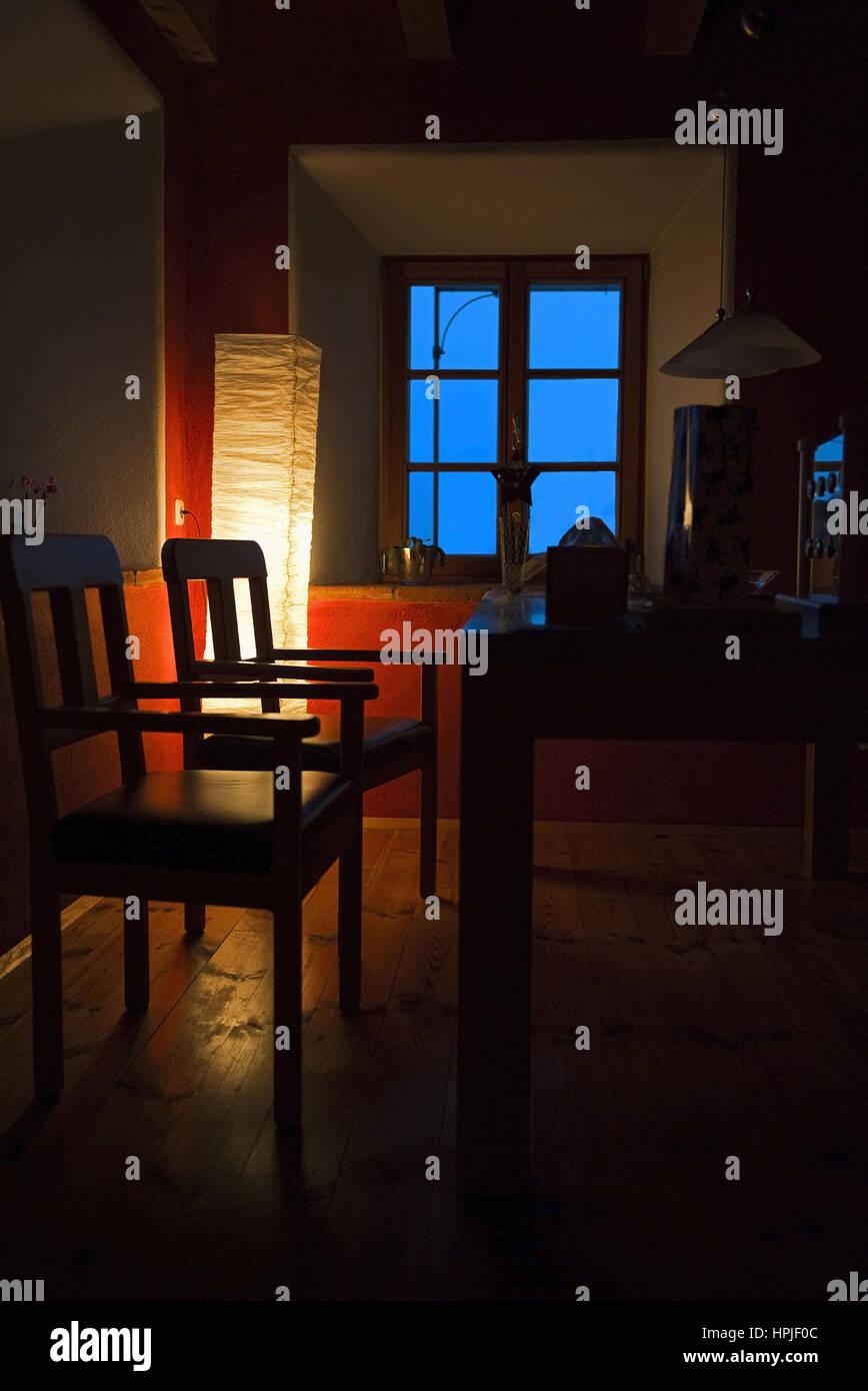 Wohnraum Esstisch Stehlampe Wohnbereich Mit Stehleuchte