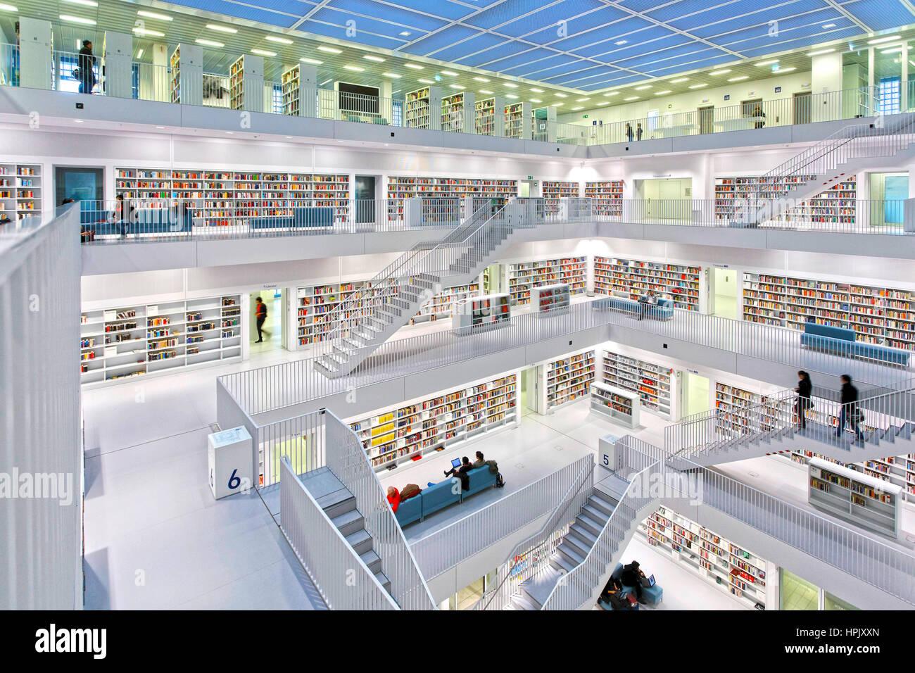 Deu, Deutschland, Stuttgart, 24.02.2014: Stuttgart - Stadtbibliothek am mailaender Platz in Stuttgart. [© (c) Stockbild