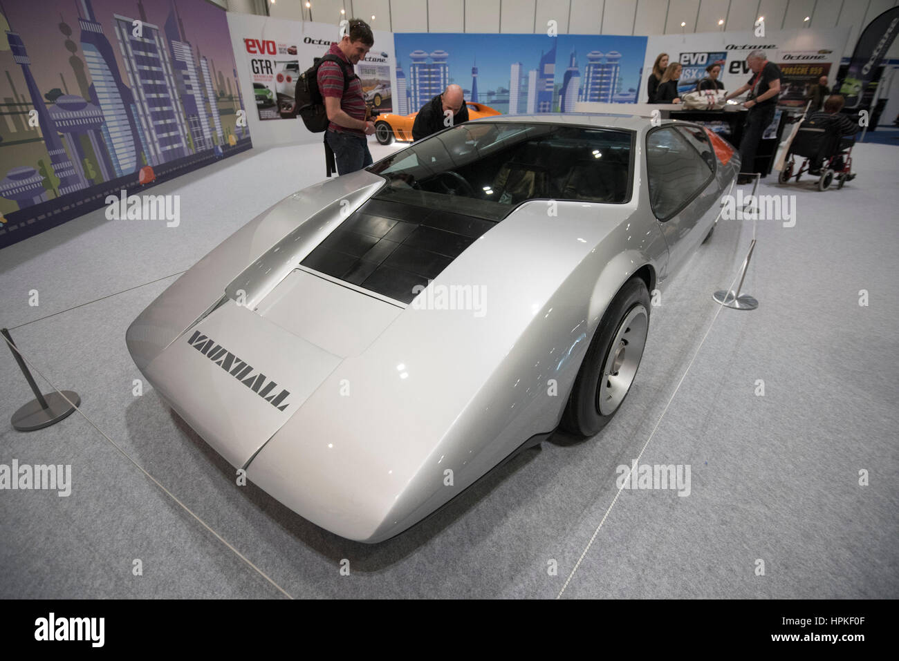 london, uk. 23. februar 2017. 1970er jahren prototyp vauxhall