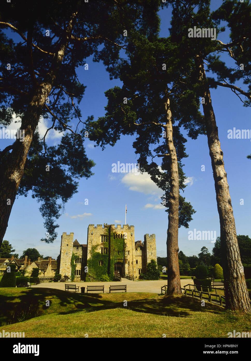 Frühling im Hever Castle. Kent. UK Stockbild